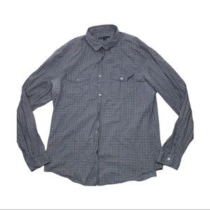 John Varvatos Plaid button up long sleeve shirt